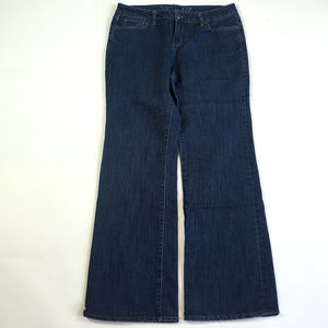 The Limited 312 Wide Leg Size 10 Dark Wash Jeans